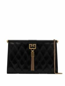 Givenchy black Gem medium quilted leather shoulder bag
