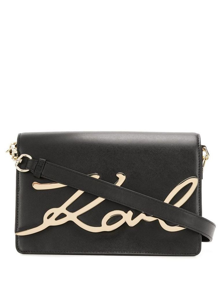 Karl Lagerfeld Signature shoulder bag - Black