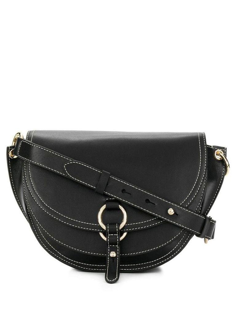Tila March contrast trim shoulder bag - Black