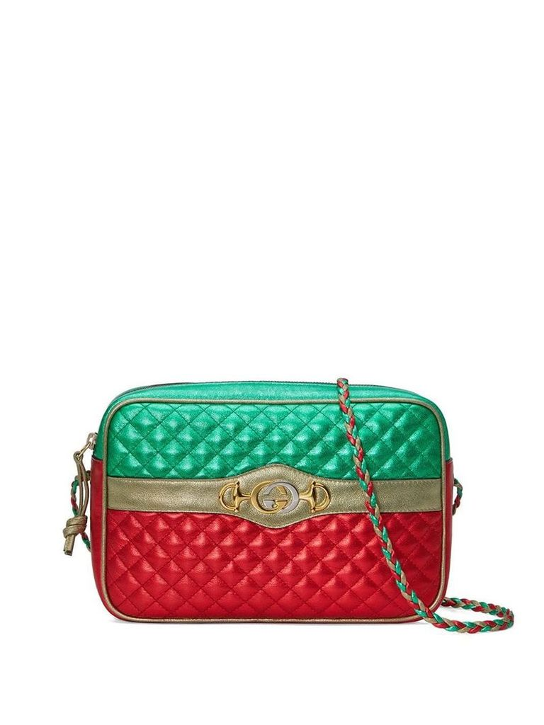 Gucci Laminated leather small shoulder bag - Green