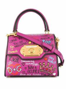 Dolce & Gabbana Welcome printed tote bag - Purple