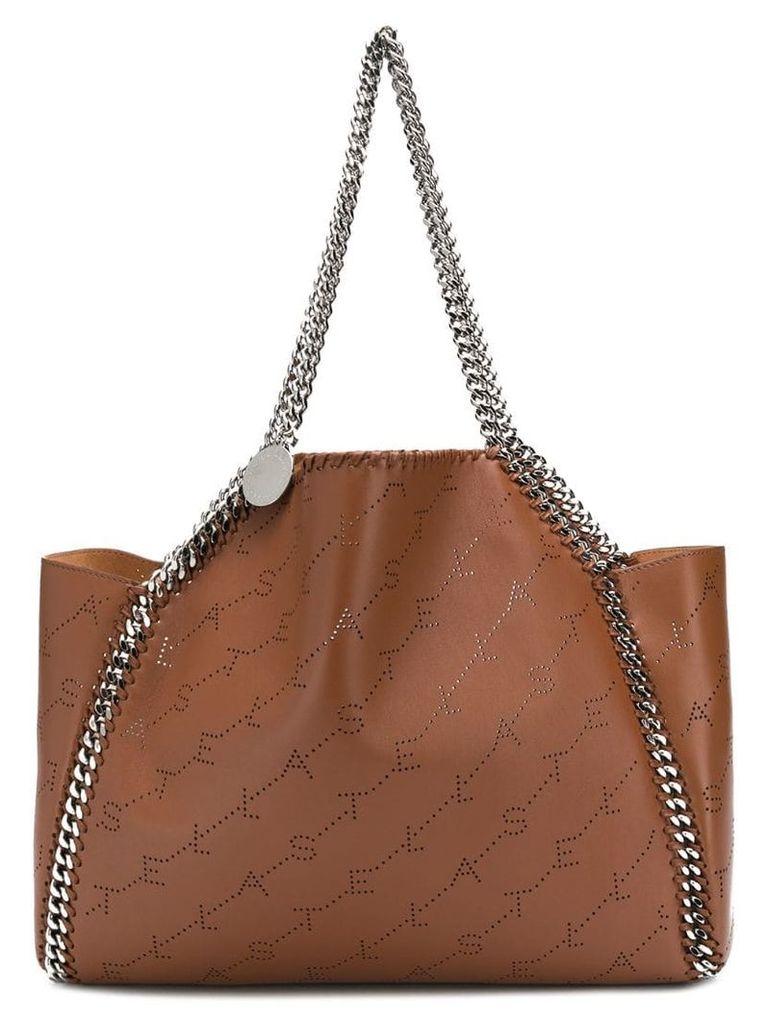 Stella McCartney Fallabela logo-embossed tote bag - Brown