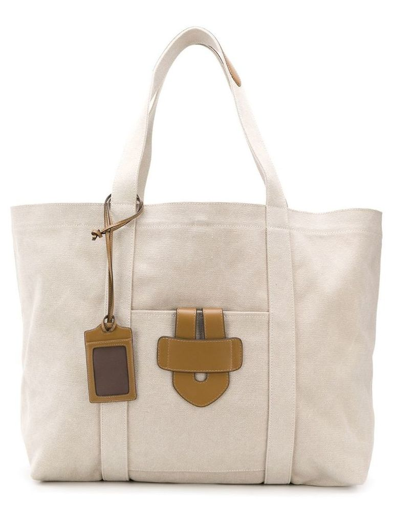 Tila March leather tote - Neutrals