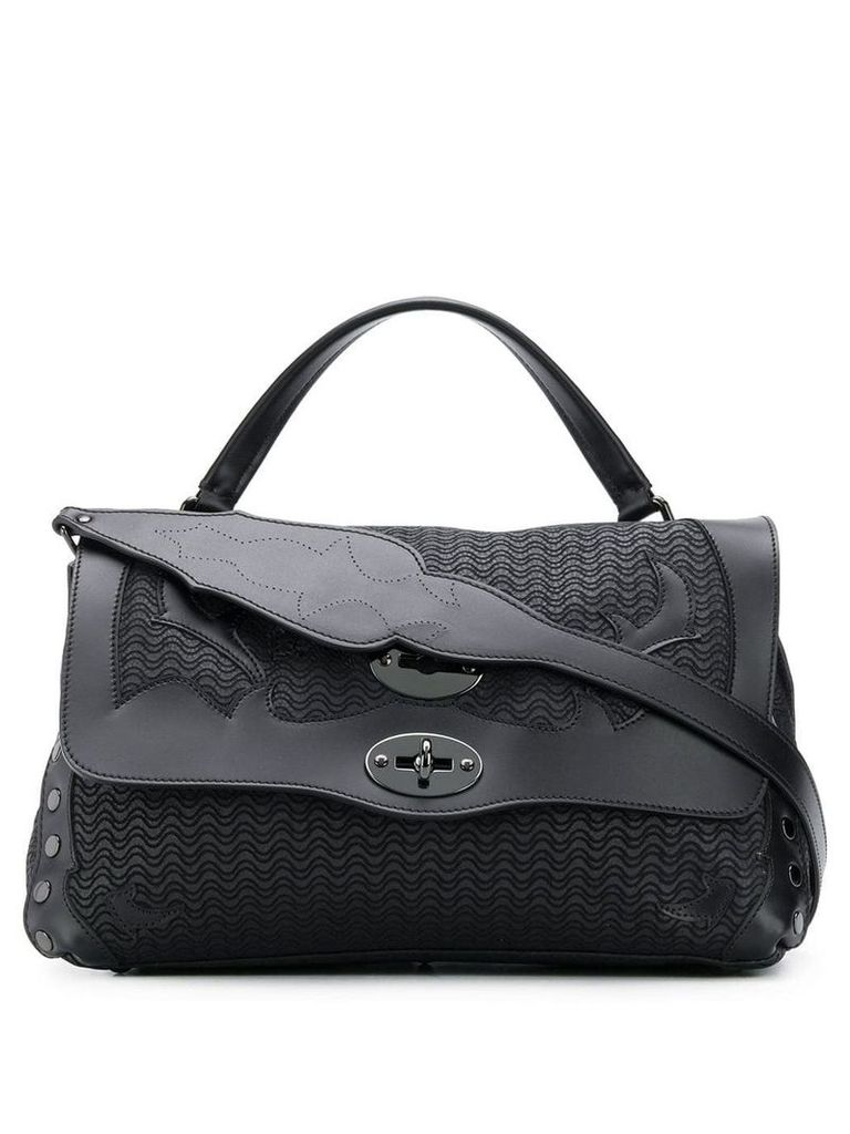 Zanellato Postina S bag in Lakota leather - Black