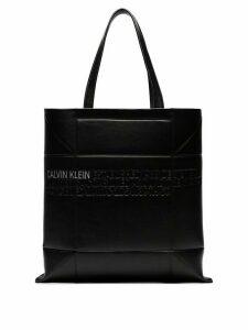 Calvin Klein 205W39nyc black small geometric leather tote bag