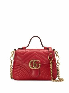 Gucci red GG Marmont mini top handle bag