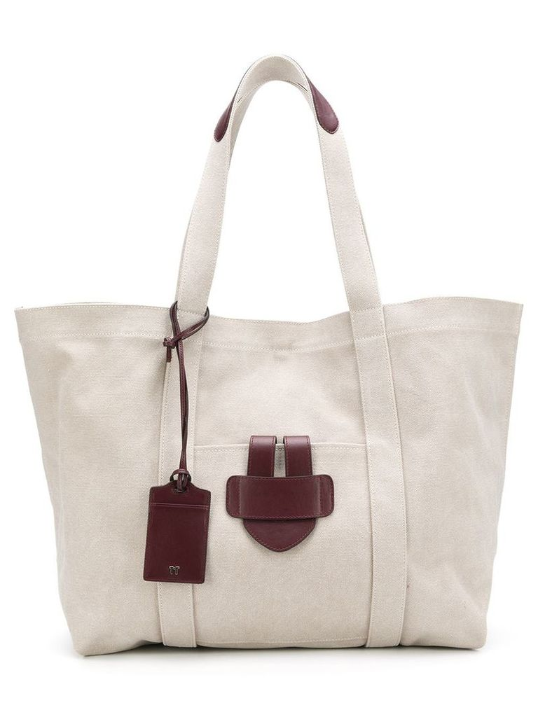 Tila March leather trim tote - Neutrals