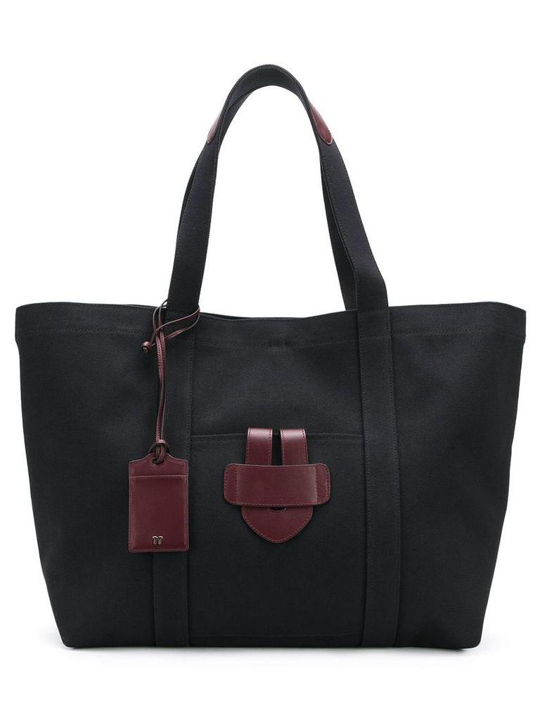 Tila March leather trim tote - Black