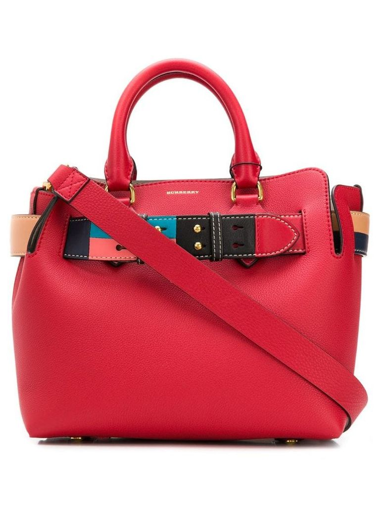 Burberry The Medium Leather Colour Block Detail Belt Bag - Red