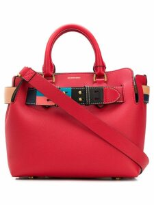 Burberry The Medium Leather Colour Block Detail Belt Bag - Red