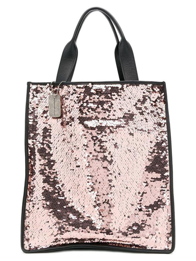 Faith Connexion Faith Connexion x Kappa sequinned tote bag - Pink