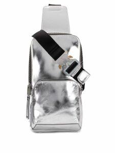 1017 ALYX 9SM silver-toned metallic cross body backpack