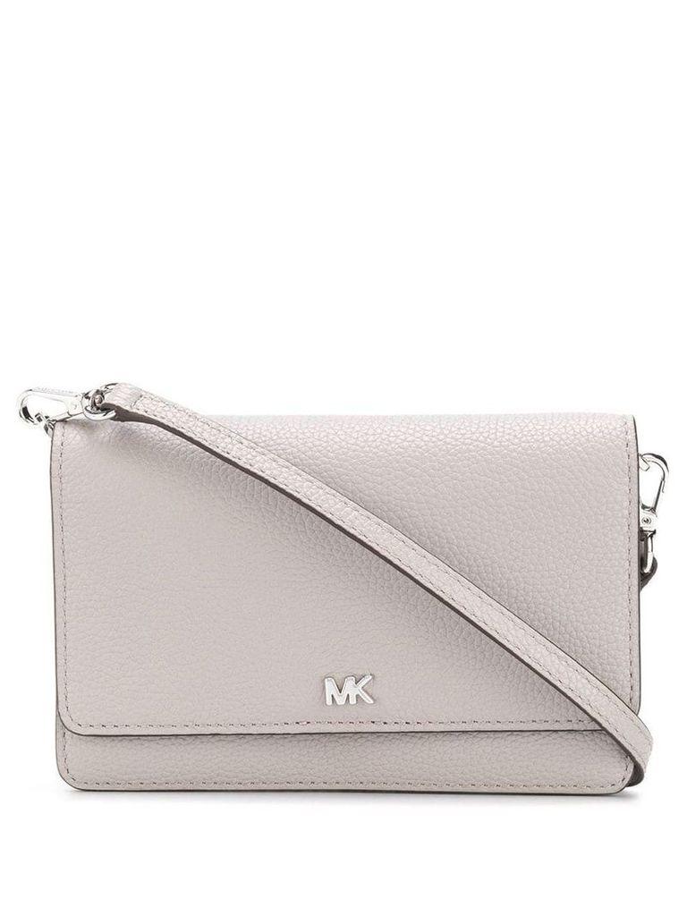 Michael Michael Kors Pebbled Convertible crossbody bag - Grey