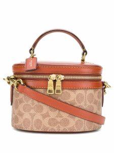Coach signature logo mini bag - Brown