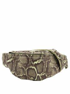 Manokhi snake print belt bag - Green