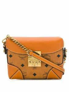MCM logo foldover belt bag - Brown