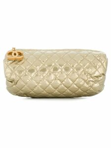 Chanel Pre-Owned 1990's diamond quilted clutch - Neutrals