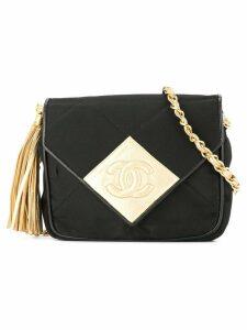 Chanel Pre-Owned Fringe Chain Shoulder Bag - Black
