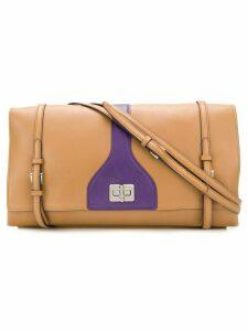 Prada Pre-Owned buckled shoulder bag - Neutrals