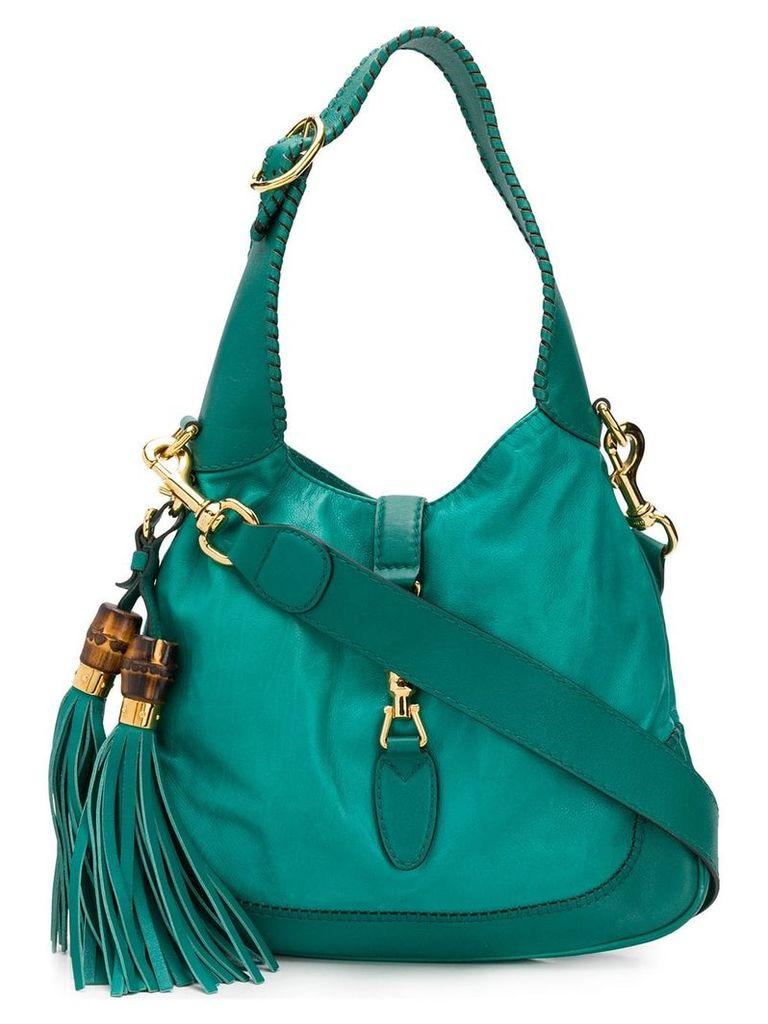 Gucci Vintage 2000's tassels shoulder bag - Green