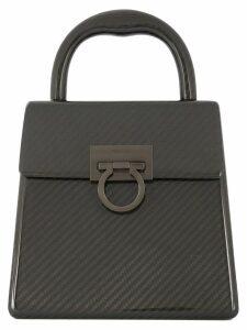 Salvatore Ferragamo Pre-Owned Gancini woven handbag - Black