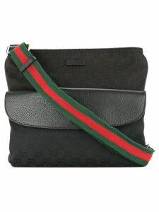 Gucci Pre-Owned Shelly Line GG shoulder bag - Black
