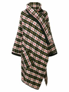 Jean Paul Gaultier Pre-Owned check shawl-collar coat - Black