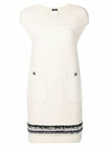 Chanel Pre-Owned cashmere textured dress - Neutrals