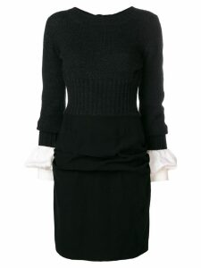 Chanel Pre-Owned layered short dress - Black