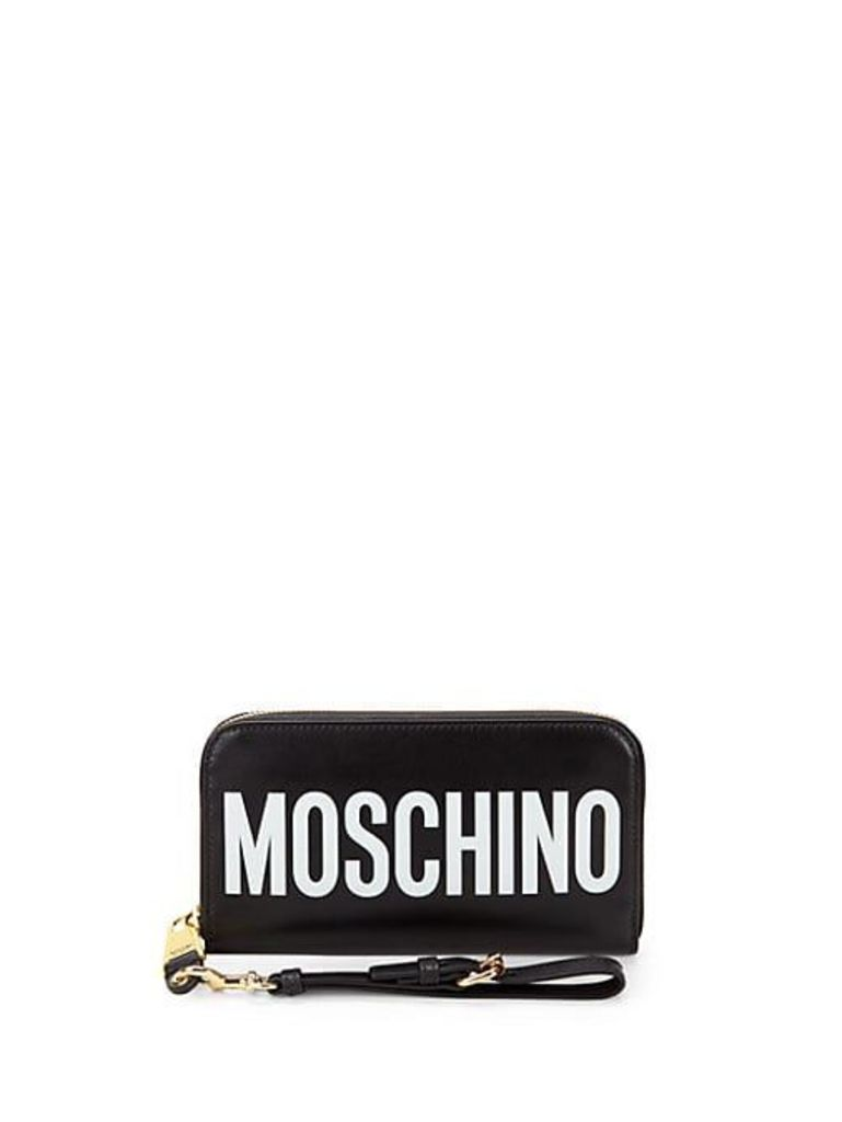Small Leather Logo Clutch