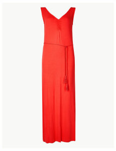 M&S Collection Ruched Front Slip Maxi Dress