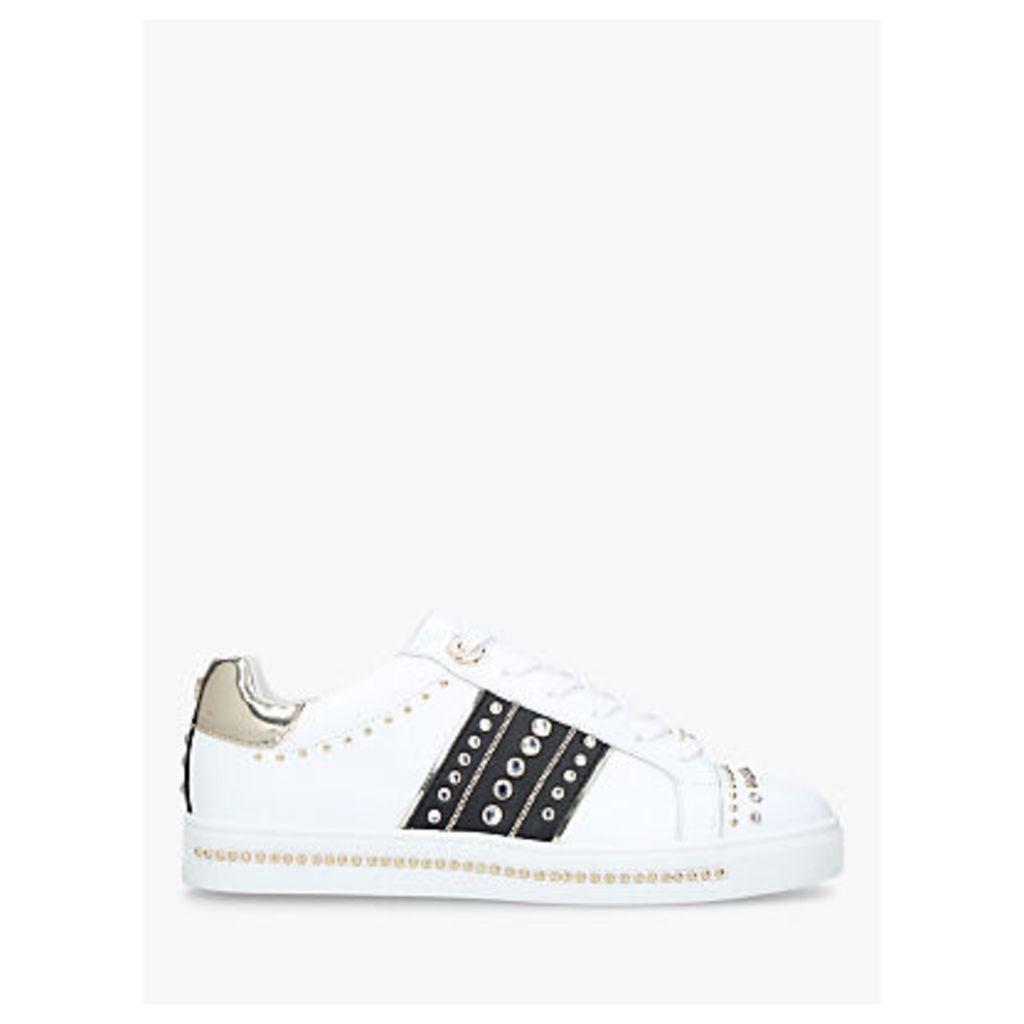 Carvela Larkin Leather Stud Trainers, White/Multi