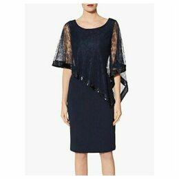 Gina Bacconi Kamila Lace Cape Overlay Dress