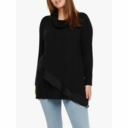 Studio 8 Caitie Roll Neck Top, Charcoal