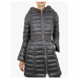 Ted Baker Yandle Bell Cuff Longline Puffer Coat, Mid Grey