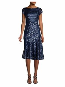 Sequin Knee-Length Fit-&-Flare Dress