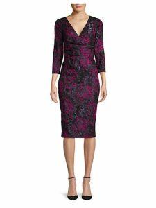Wrap Jacquard Dress