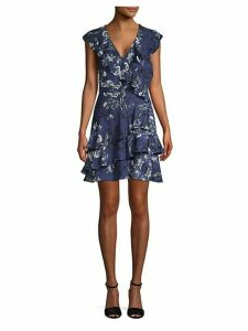 Ruffled Floral A-Line Dress