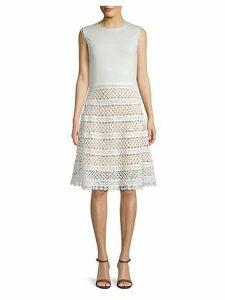Crochet Cotton A-Line Dress