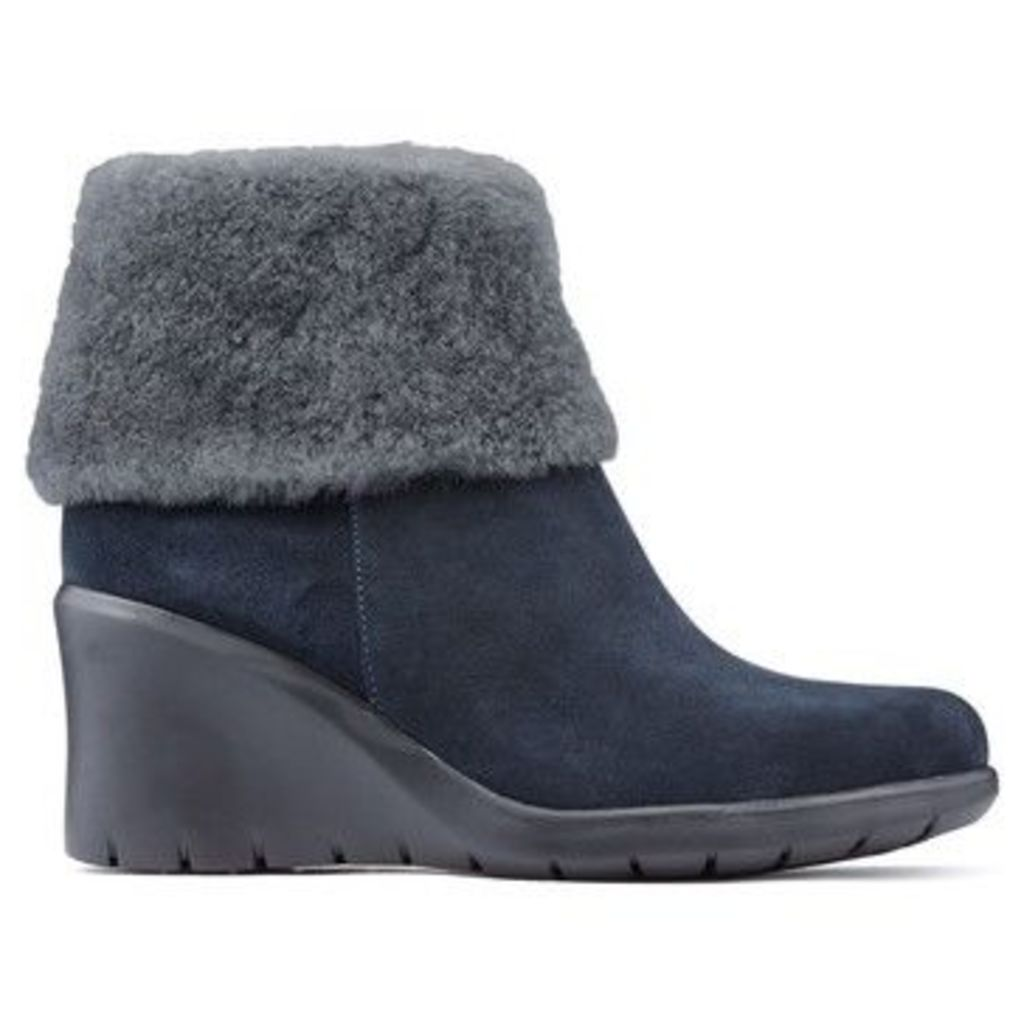 CallagHan  Booties  BALI CLAUDIA  women's Low Ankle Boots in Blue