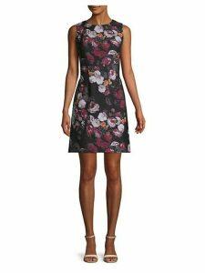 Floral Twill Sheath Dress