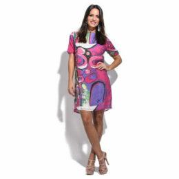 For Her Paris  Dress  women's Dress in Pink