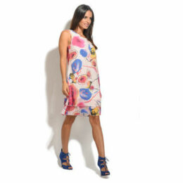 For Her Paris  Dress  women's Dress in Blue