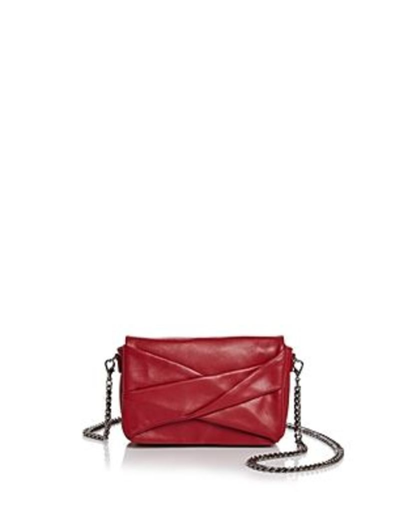 Halston Heritage Grace Small Bow Convertible Leather Crossbody