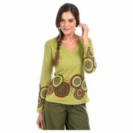 Couleurs Du Monde  Top  women's Blouse in Green