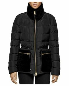 Mackage Elise Shearling Trim Down Coat
