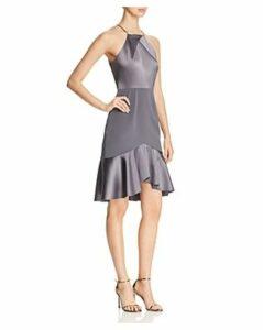 Elie Tahari Bella Mixed Satin Dress