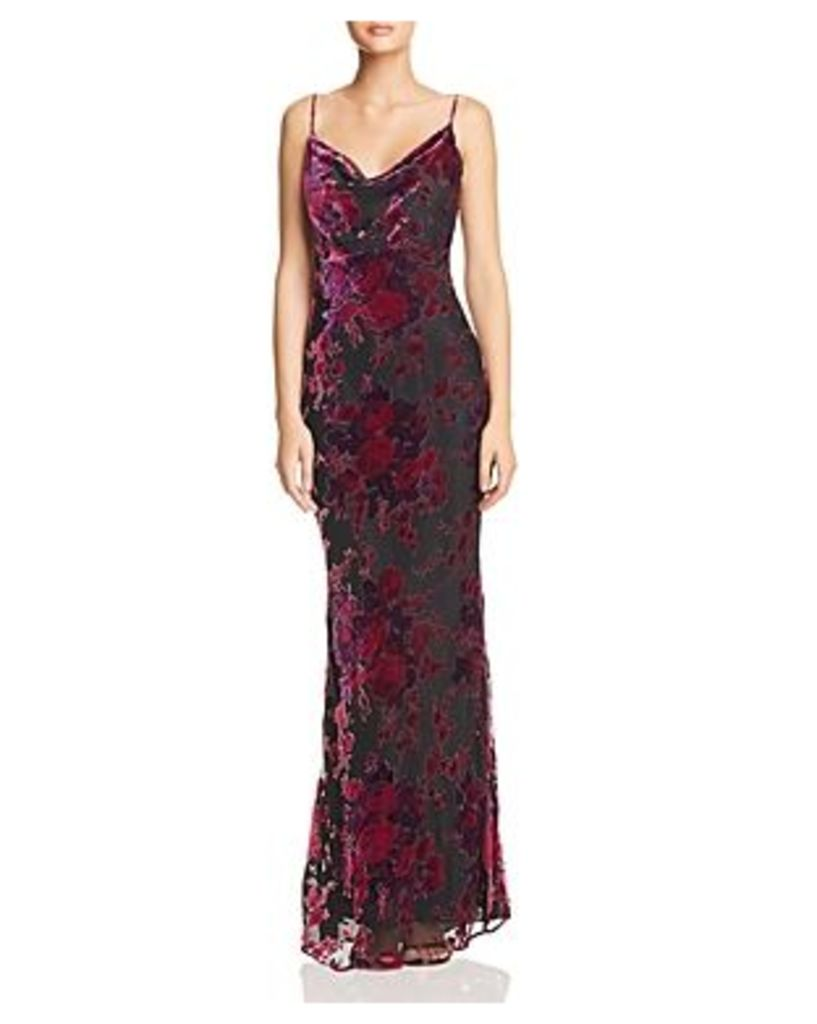 Likely Midori Floral Velvet Burnout Gown