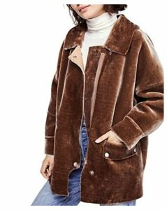 Free People Lindsay Faux Shearling Coat
