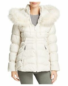 Laundry by Shelli Segal Faux Fur Trim Short Puffer Coat